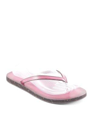 Clarks Flip Flop Sandalen pink-schwarz schlichter Stil