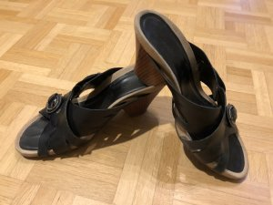 Clarks heel sandals, black, vintage, punk, retro