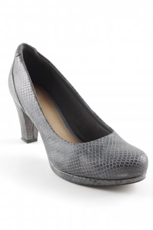 Clarks High Heels grau Business-Look
