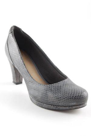 Clarks High Heels grau Business-Look