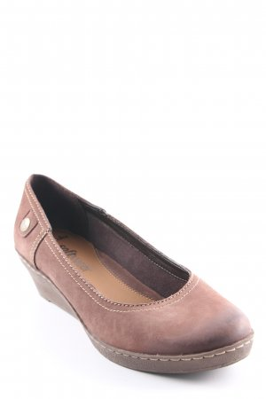 Clarks Keil-Pumps braun Casual-Look