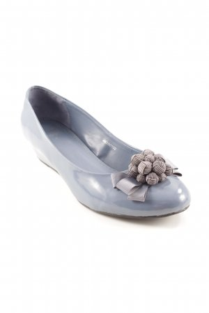 Clarks Keil-Pumps graublau-grau Business-Look