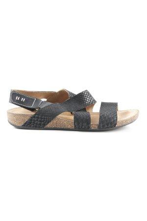 Clarks Komfort-Sandalen schwarz Animalmuster Casual-Look