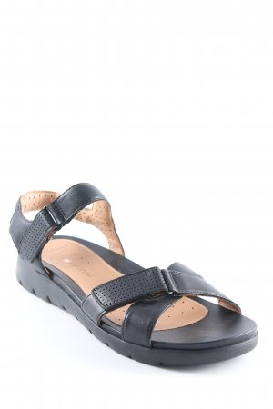 Clarks Comfort Sandals black casual look