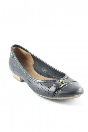 Clarks Lackballerinas dunkelblau Business-Look