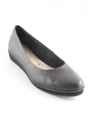 Clarks Lackballerinas schwarz-creme Business-Look