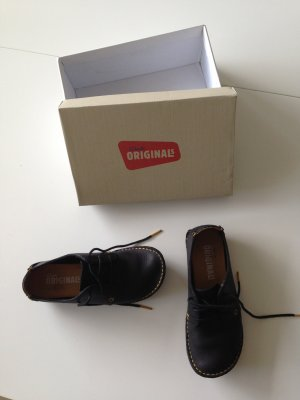 Clarks Leder Schuhe Schwarz