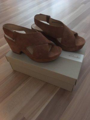 Clarks Comfortabele sandalen cognac