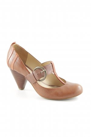 Clarks Mary Jane Pumps cognac-rostrot Retro-Look