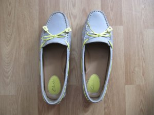 Clarks Moccasins silver-colored-primrose leather