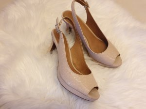 Clarks Peep Toe Pumps cream