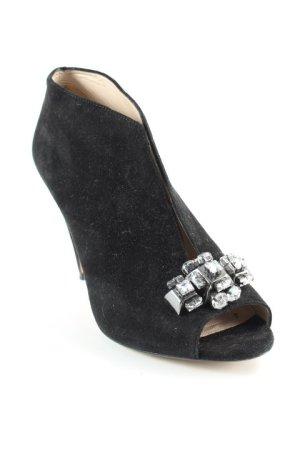 Clarks Peeptoe-Stiefeletten schwarz Elegant