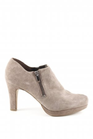 Clarks Platform Booties natural white business style