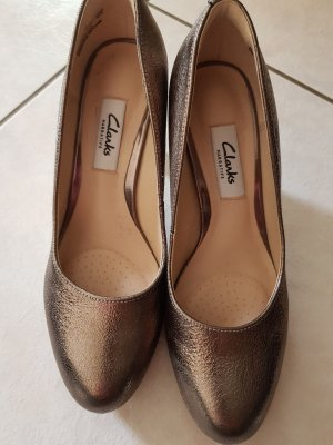 Clarks Pumps Gr. 36 bronze-gold Echtleder