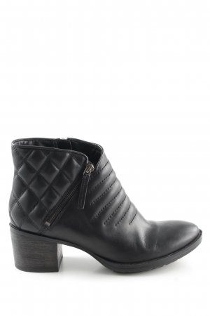 Clarks Zipper Booties black quilting pattern casual look