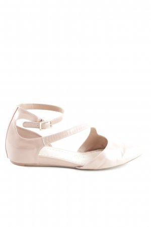 Clarks Strappy Ballerinas natural white casual look