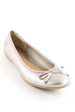 Clarks Riemchen Ballerinas silberfarben schlichter Stil