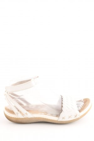 Clarks Strapped Sandals natural white casual look