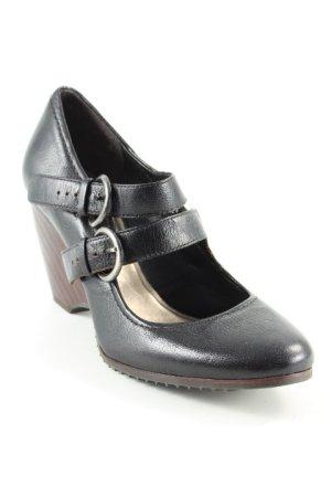Clarks Riemchen-Sandalen schwarz-braun Street-Fashion-Look
