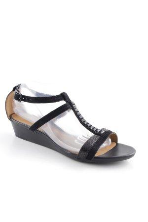 Clarks Riemchen-Sandalen schwarz Elegant