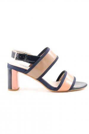 Clarks Strapped High-Heeled Sandals multicolored simple style