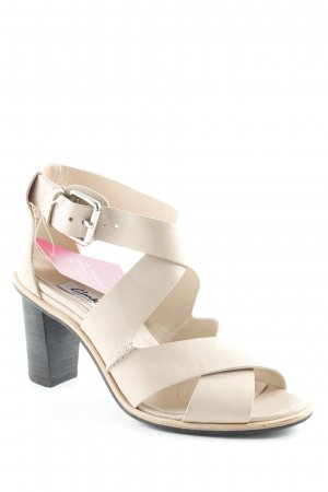 Clarks Strapped High-Heeled Sandals black-cream casual look