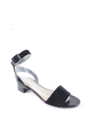 Clarks Riemchen-Sandaletten schwarz Elegant