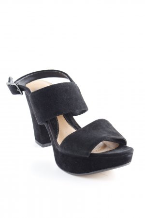 Clarks Strapped High-Heeled Sandals black classic style