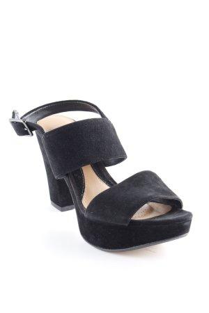 Clarks Riemchen-Sandaletten schwarz klassischer Stil