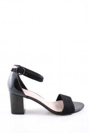 Clarks Riemchenpumps schwarz Business-Look