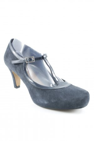 Clarks Riemchenpumps dunkelblau Business-Look