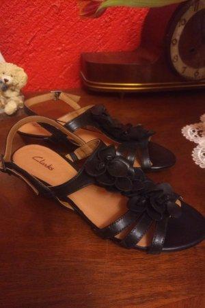 Clarks Strapped High-Heeled Sandals black