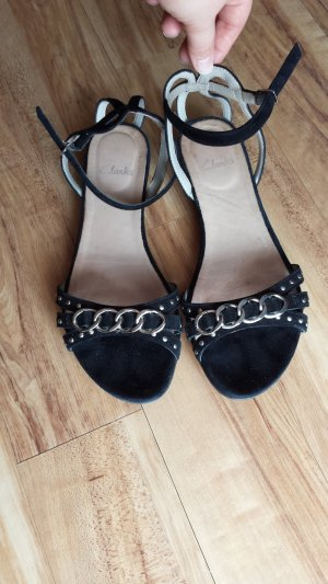 Clarks Sandalo con cinturino nero-argento