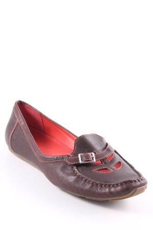 Clarks Schlüpfschuhe braun-rot klassischer Stil