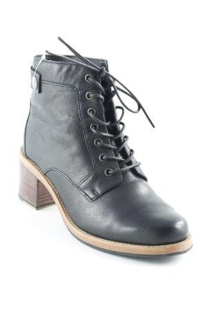 Clarks Schnür-Stiefeletten schwarz Casual-Look