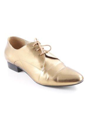 Clarks Schnürschuhe goldfarben Dandy-Look