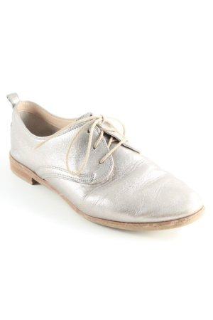 Clarks Schnürschuhe silberfarben Business-Look