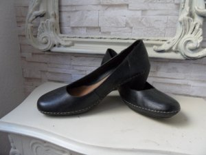 Clarks Peep Toe Pumps black leather