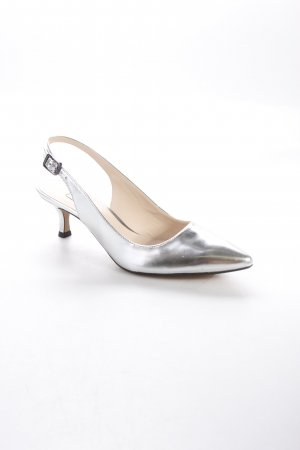 Clarks Slingback-Pumps silberfarben Metallic-Optik