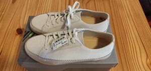 Clarks Lace-Up Sneaker white-cream leather