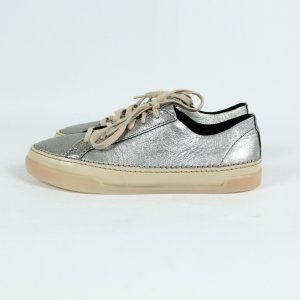 Clarks Lace-Up Sneaker silver-colored-gold-colored leather