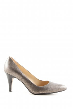 Clarks Pointed Toe Pumps bronze-colored business style