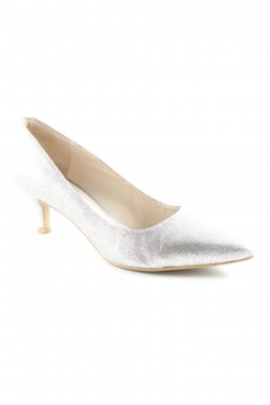 Clarks Spitz-Pumps silberfarben-beige Business-Look
