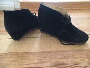 Clarks wedges keilbooties stiefeletten ankle boots 39 wildleder schwarz