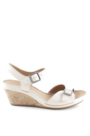 Clarks Wedges Sandaletten nude-wollweiß Business-Look