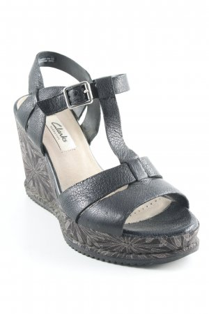 Clarks Wedge Sandals flower pattern casual look