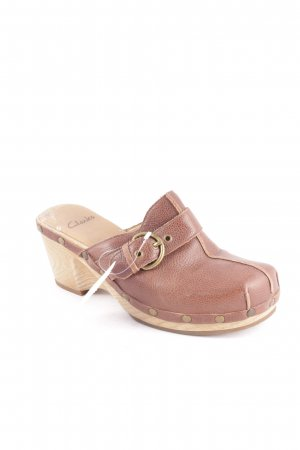Clarks Wedges Sandaletten braun-beige Country-Look