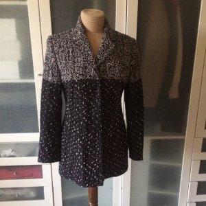 Clasen Long Blazer dark grey-silver-colored wool