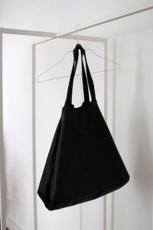 Tote black leather