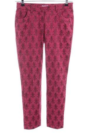 Class International Pantalone a sigaretta rosa motivo astratto elegante
